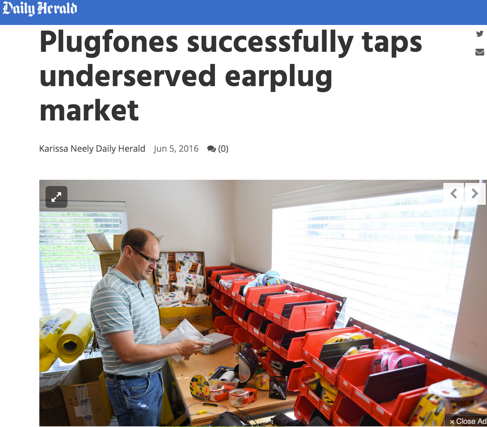 Plugfones in the Daily Herald!