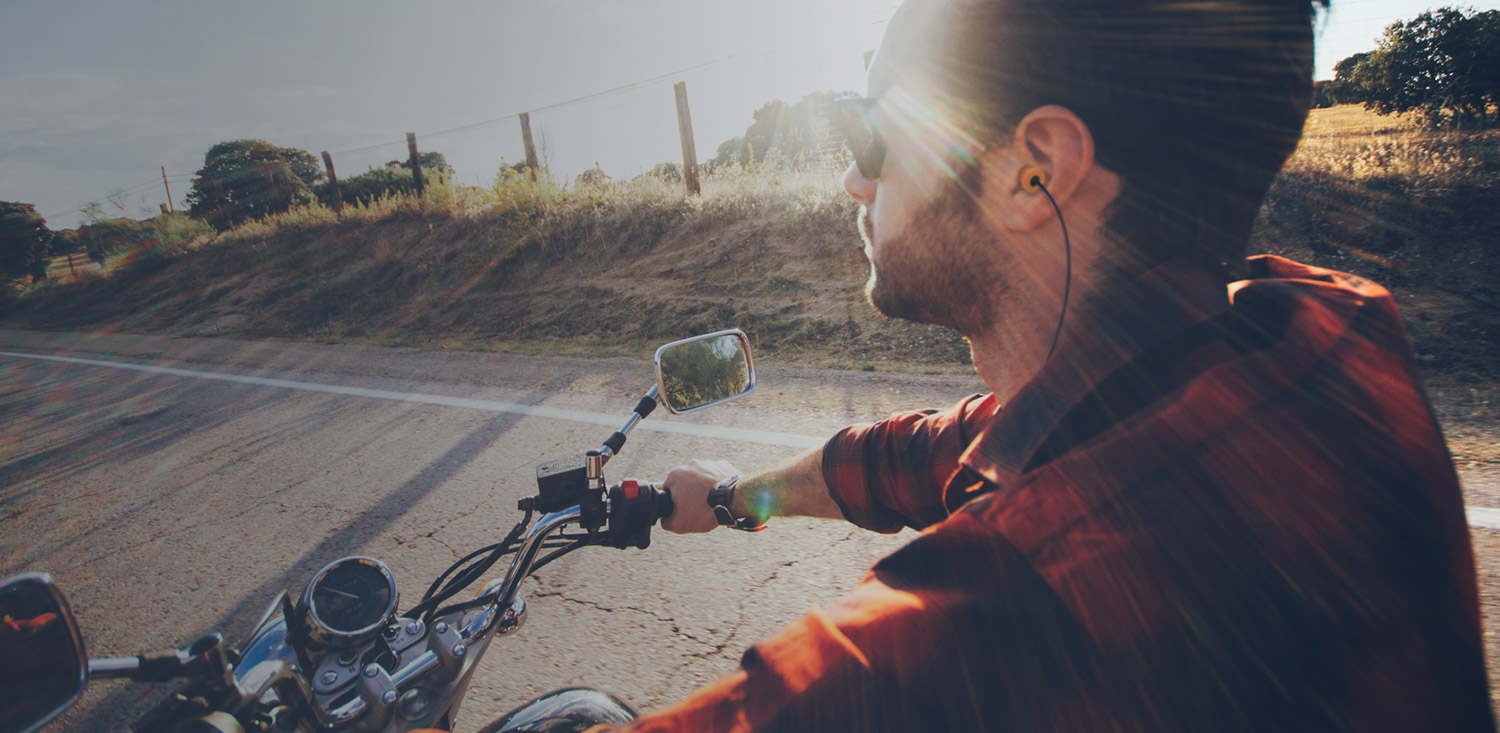 Motorcycle Earplug Headphones