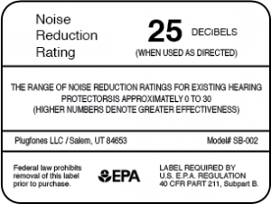 EPA Noise Reduction Rating Label